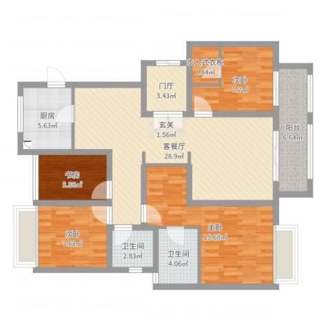 农房檀府4室2厅2卫1厨113.00㎡户型图