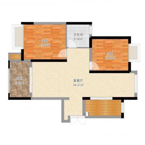 恒盛豪庭10#03室2室2厅2卫1厨94.00㎡户型图