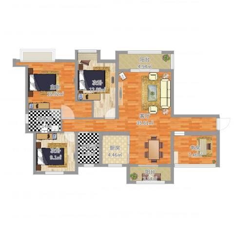 香颂小镇4室1厅2卫1厨126.00㎡户型图