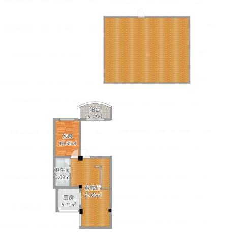 广安小区1室2厅1卫1厨153.00㎡户型图