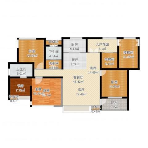 松江运河城1室2厅2卫1厨188.00㎡户型图