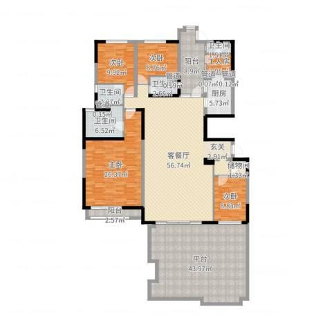 碧桂园凤凰城4室2厅4卫1厨238.00㎡户型图