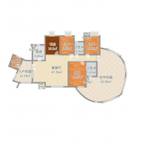 湘江豪庭4室2厅2卫1厨241.00㎡户型图