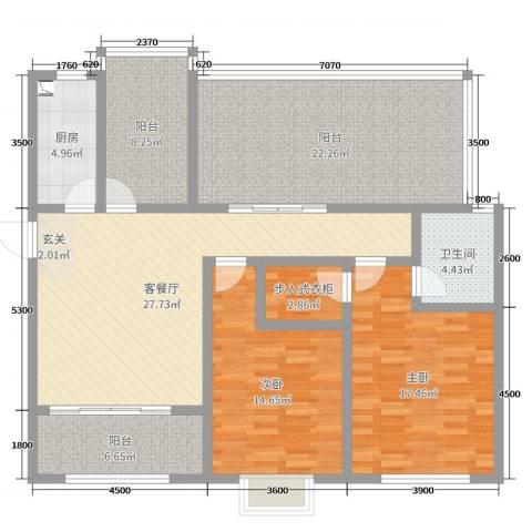 阜丰康桥郡2室2厅1卫1厨109.25㎡户型图