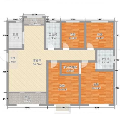 阜丰康桥郡4室2厅2卫1厨140.00㎡户型图