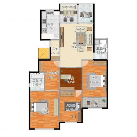 金象泰吉祥家园4室2厅2卫1厨120.00㎡户型图