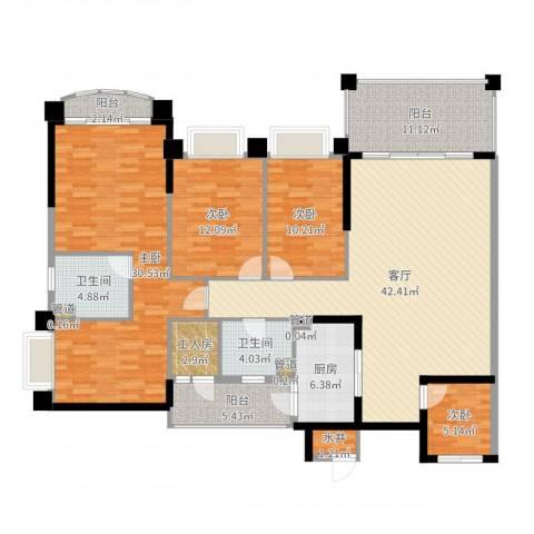 锦绣新天地4室1厅2卫1厨174.00㎡户型图