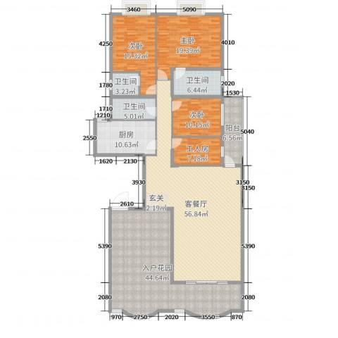 名苑华庭3室2厅3卫1厨210.00㎡户型图