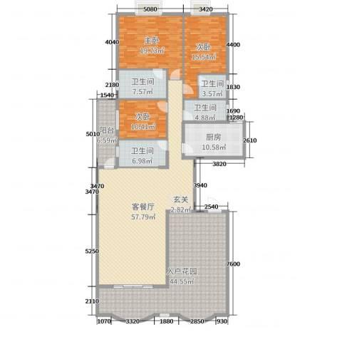 名苑华庭3室2厅4卫1厨210.00㎡户型图