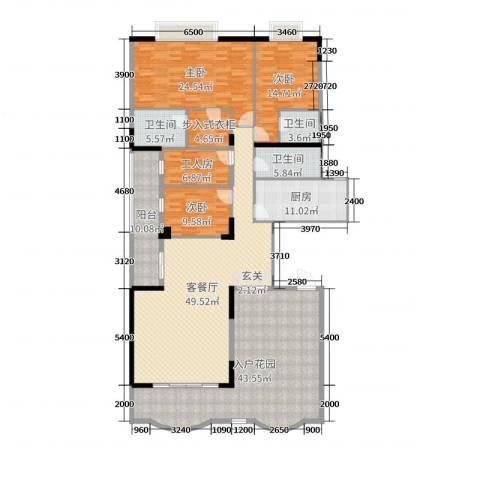 名苑华庭3室2厅3卫1厨216.00㎡户型图