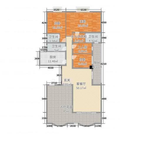 名苑华庭3室2厅3卫1厨215.00㎡户型图