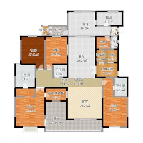 自在山5室1厅4卫1厨339.00㎡户型图