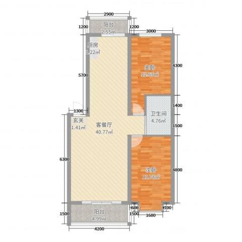 都市花园2室2厅1卫0厨99.00㎡户型图