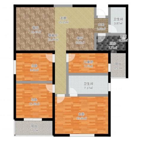 东方广场4室2厅2卫1厨162.00㎡户型图