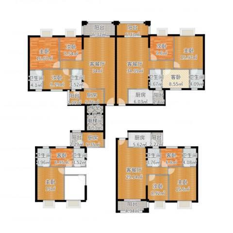 丽南名都9室6厅8卫4厨382.00㎡户型图