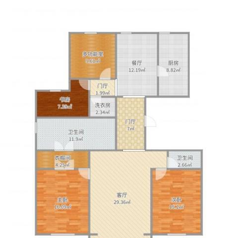 万通天竺新新家园・溪悦府3室2厅2卫1厨161.00㎡户型图