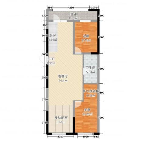 阳光小镇二期2室2厅1卫0厨114.00㎡户型图