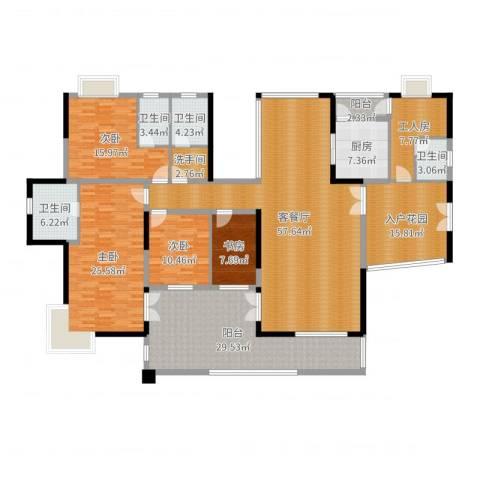 星河传说天玺4室2厅4卫1厨250.00㎡户型图