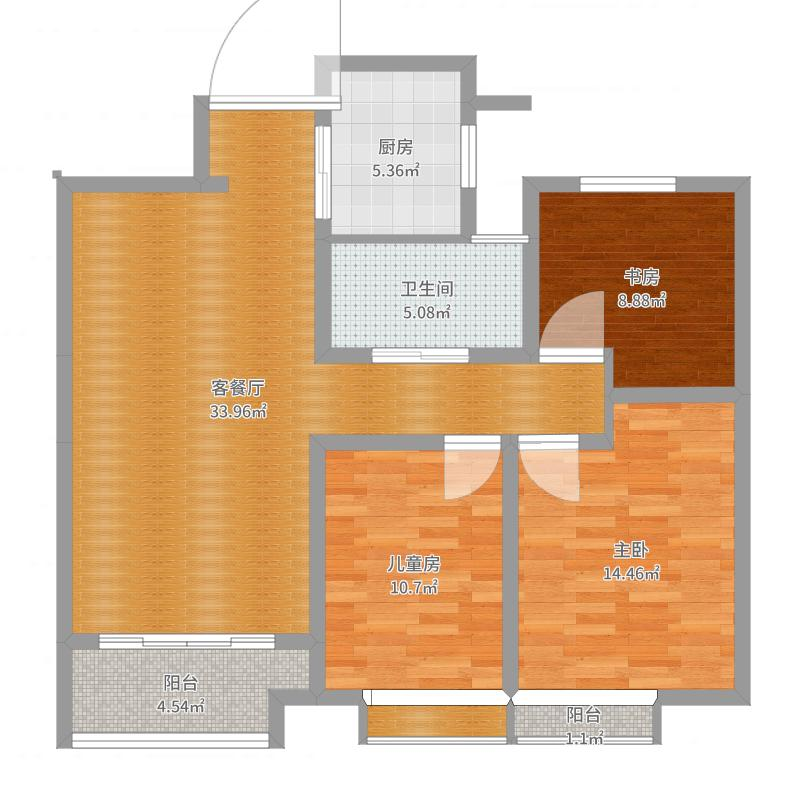 102东台御龙湾小三室两厅