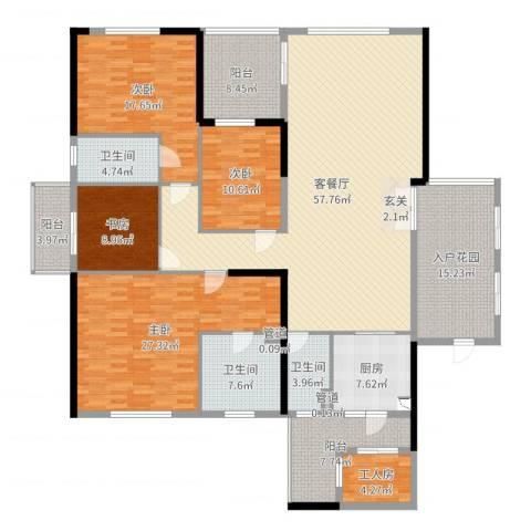 千灯湖一号公馆4室2厅3卫1厨233.00㎡户型图