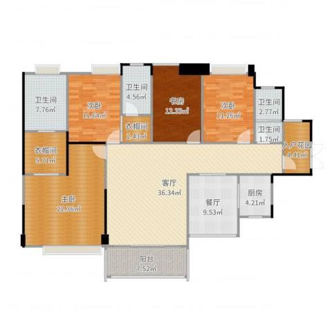 保利拉菲4室2厅4卫1厨181.00㎡户型图