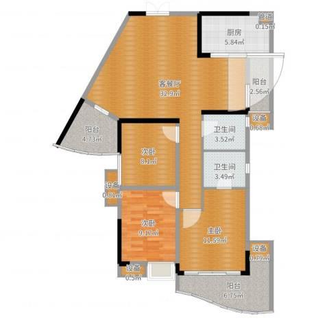 世纪金源御府3室2厅7卫1厨114.00㎡户型图