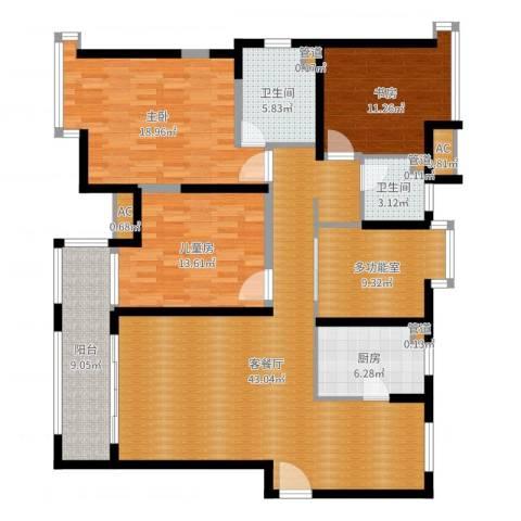 上海滩大宁城3室2厅4卫4厨153.00㎡户型图