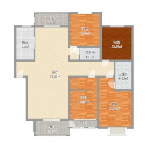 金玉良园4室1厅2卫1厨187.00㎡户型图