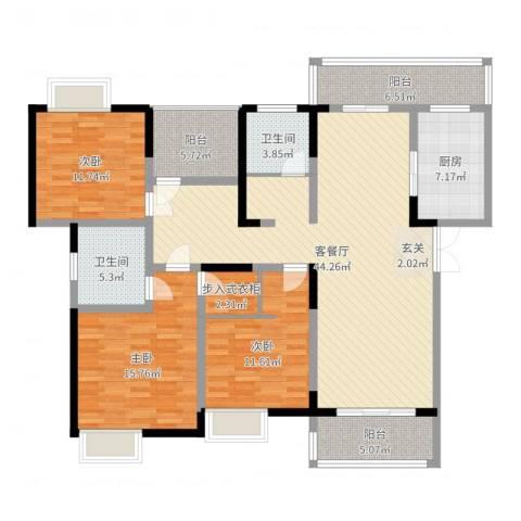 中联・君悦3室2厅2卫1厨149.00㎡户型图