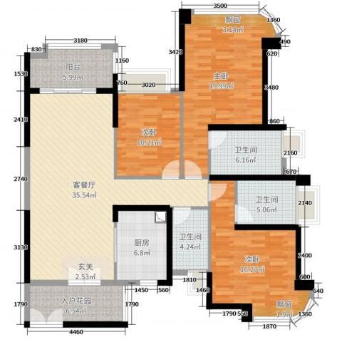 雅居乐・剑桥郡3室2厅3卫1厨146.00㎡户型图