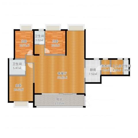 仁和春天国际花园3室2厅3卫1厨183.00㎡户型图