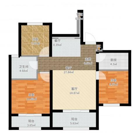 东亚御景湾3室2厅1卫1厨108.00㎡户型图