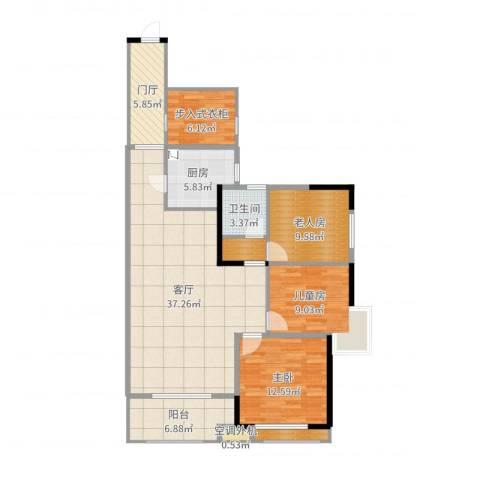 新乡星海传说2室1厅4卫2厨125.00㎡户型图