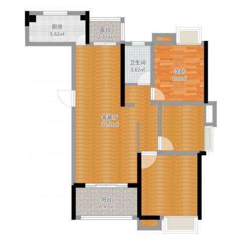 朗贤奥特莱斯小镇1室2厅4卫2厨107.00㎡户型图