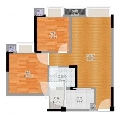 欣光松宿2室2厅5卫1厨66.00㎡户型图