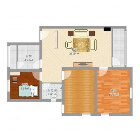 杏花苑小区2室1厅1卫1厨85.00㎡户型图