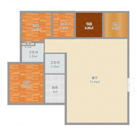 四季香山别墅4室1厅2卫1厨190.00㎡户型图