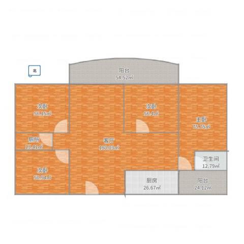 江南新苑4室1厅1卫1厨688.00㎡户型图