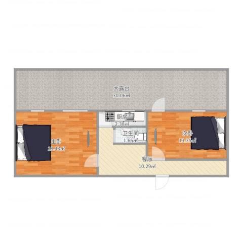 十里堡北里2室1厅1卫1厨95.00㎡户型图