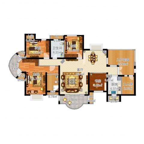湘江世纪城4室1厅9卫1厨198.00㎡户型图
