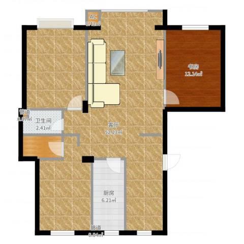 保利花园第五季1室1厅1卫1厨112.00㎡户型图
