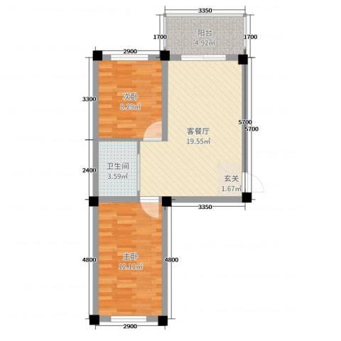 和美雅苑2室2厅1卫0厨62.00㎡户型图