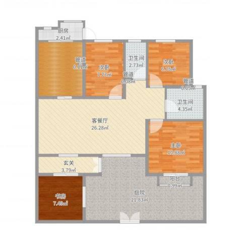 顺驰美兰4室2厅2卫1厨104.45㎡户型图