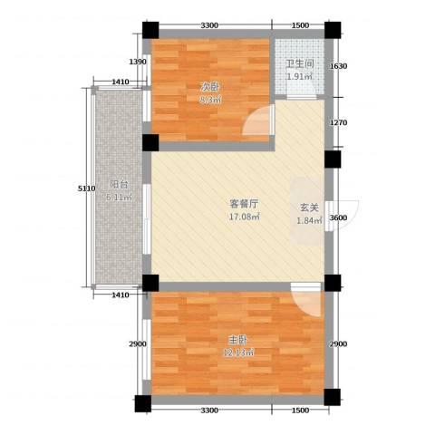 和美雅苑2室2厅1卫0厨66.00㎡户型图