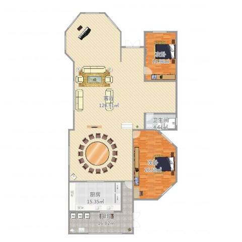 五洲康城2室1厅1卫1厨249.00㎡户型图