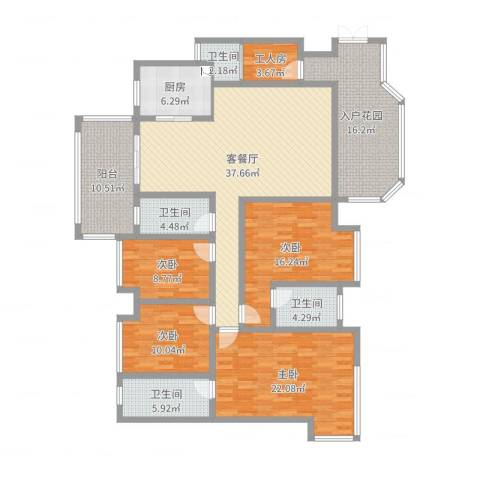 景源公园一号4室2厅4卫1厨185.00㎡户型图