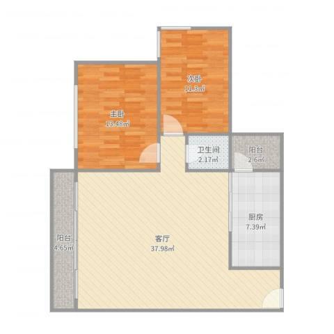 中海文华熙岸8座11022室1厅1卫1厨99.00㎡户型图