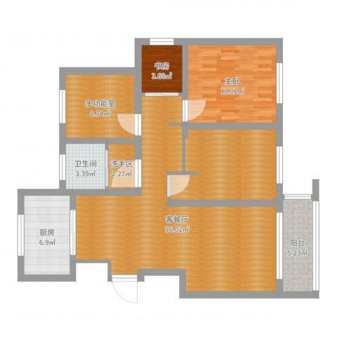 锦绣花园2室2厅3卫1厨114.00㎡户型图