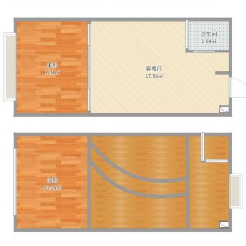 合景睿峰2室2厅5卫1厨72.00㎡户型图