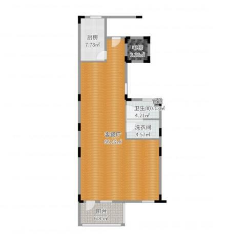 中星佘山溪语1室2厅3卫1厨116.00㎡户型图
